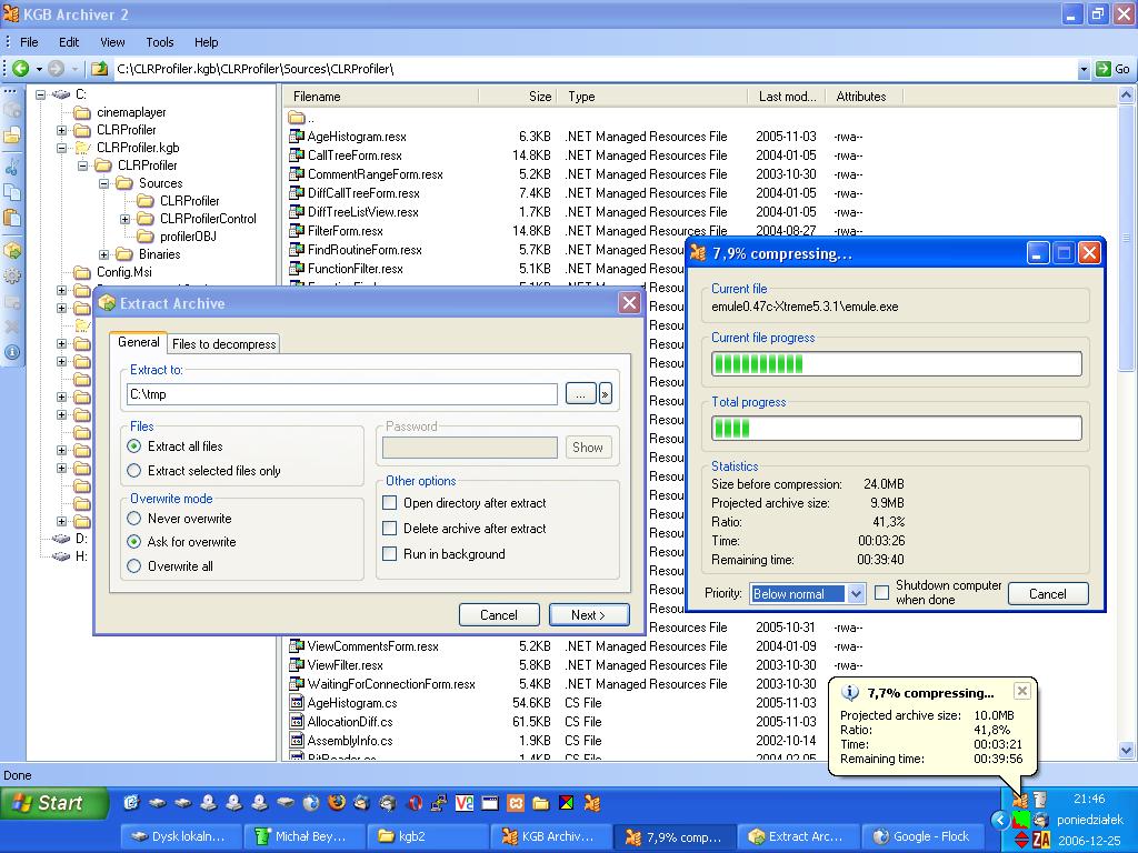 KGB Archiver: miglior programma free per la compressione e archiviazione dei file