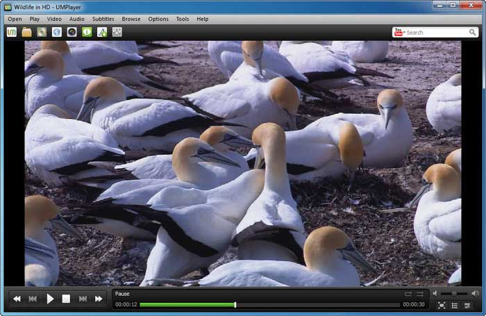 Download miglior lettore multimediale audio e video per Windows - Scarica gratis UMPlayer