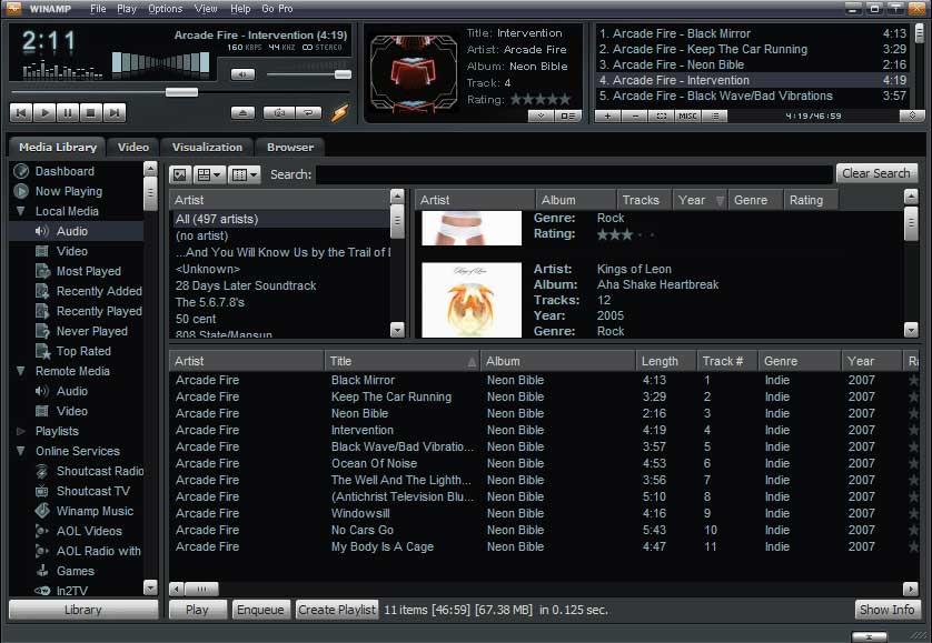 winamp - download miglior player audio video gratis per per ascoltare musica e guardare video