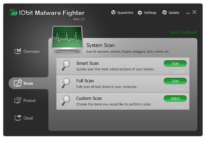 Antimalware gratis - Antispyware gratis - IObit Malware Fighter Free - Scaricare Download programma antispyware antimalware 2013 gratis free