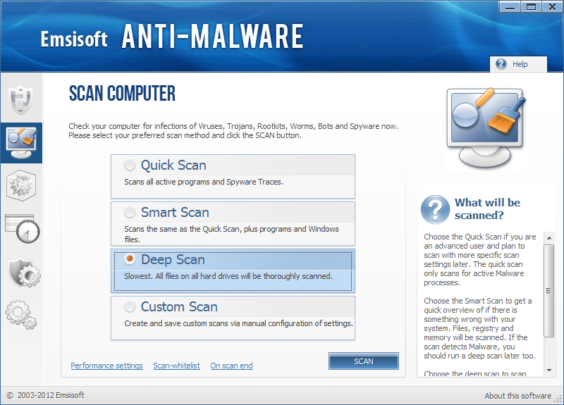 Antimalware gratuito - Emsisoft Antimalware Free - Scaricare Download Miglior Antimalware gratis 2013 per Windows