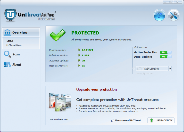 Antivirus free - Unthreat Free Antivirus - Miglior antivirus gratuito per PC Windows