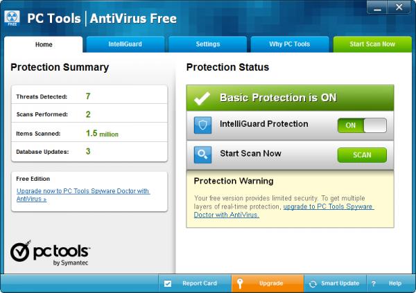 Antivirus free download gratis - PC Tools AntiVirus Free