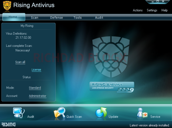 Download Programma Antivirus Gratis 2013 - Rising AntiVirus Free Edition scarica ultima versione