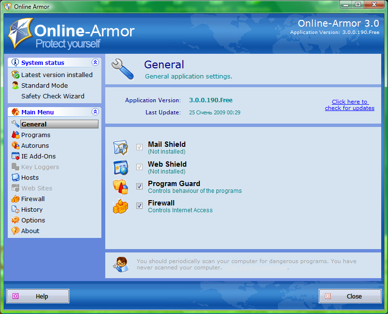 Firewall gratis 2013 - Online Armor Free - Scaricare Download miglior firewall gratis per PC Windows