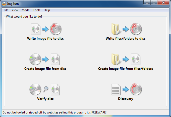 ImgBurn Download - Programma per masterizzare CD e DVD gratis - Come Masterizzare immagini ISO su DVD