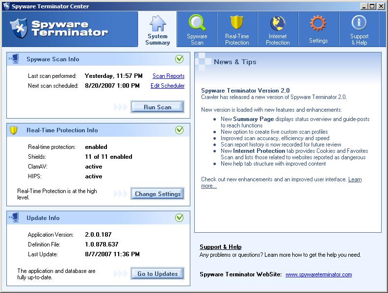 Miglior Antispyware Gratis 2013 - Spyware Terminator Free da scaricare download gratis