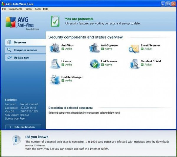 Miglior antivirus gratis - download free antivirus - scarica gratis il miglior antivirus free per Windows