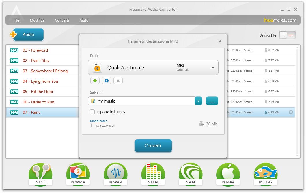 Miglior programma conversione audio gratis - Download convertitore MP3
