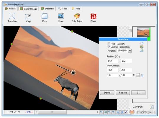 Programma gratis per modificare foto - Photo Decorator
