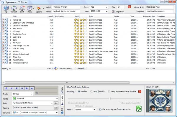 Programma per copiare musica da CD audio - DBPowerAmp