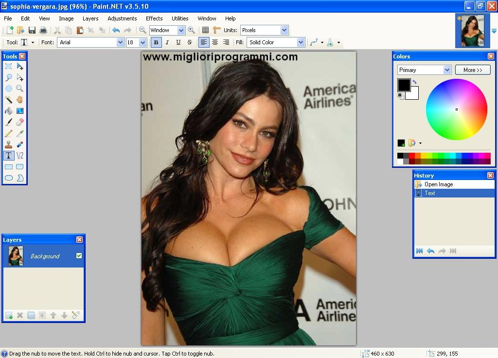 Software fotoritocco gratis - Paint Net