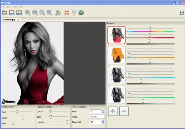 Tintii Photo Filter - Programma per mettere in risalto un colore in una foto bianco e nero
