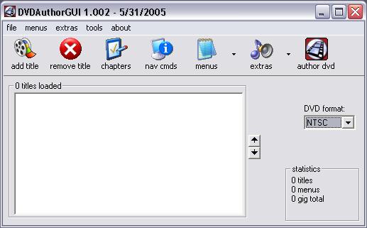 DVDAuthorGUI - Programma gratis per creare video DVD con menu e capitoli