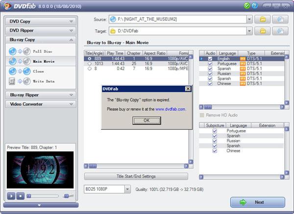 DVDFab HD Decrypter - Programma gratis per rimuovere protezioni DVD - Programma per copiare DVD Blu-Ray protetti