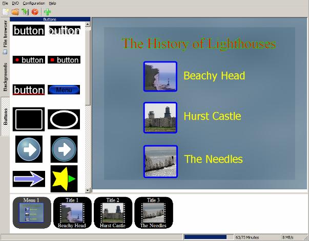 DVDStyler - programma gratis per creare DVD con menu e capitoli
