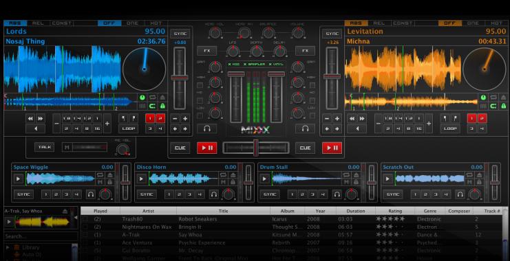 Download miglior programma per mixare musica e canzoni gratis - Download Mixxx - console virtuale per DJ su PC