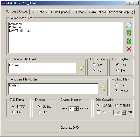 FVAC - Download miglior programma per creare DVD e convertire video Divx AVI MKV in DVD