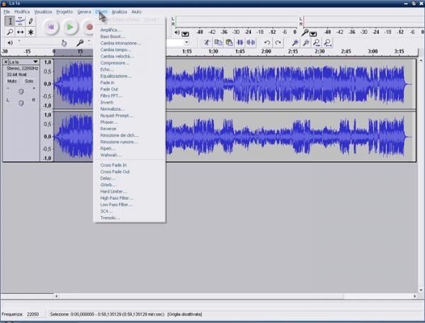 Programma per modificare le tracce audio - Programma per registrare suoni da PC - Programma per mixare musica mp3 gratis