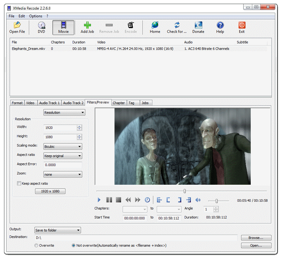 XMedia Recode - download miglior programma gratis per convertire film video e audio