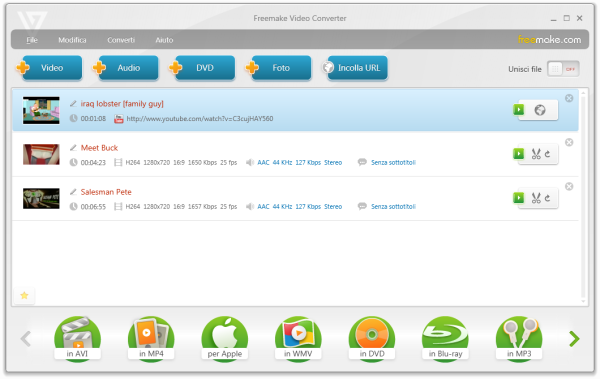 freemake video converter - programma gratis per convertire video e audio