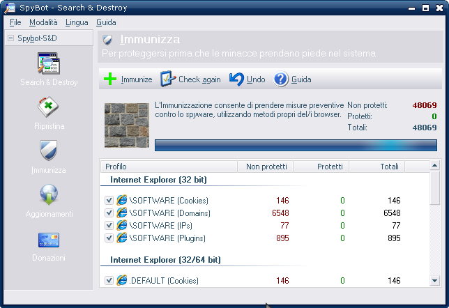 Download gratis Spybot Search and Destroy - miglior antispyware gratis per Windows