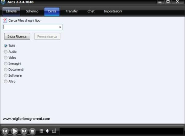 Guida Ares - Tutorial su come scaricare musica film e giochi con Ares Galaxy