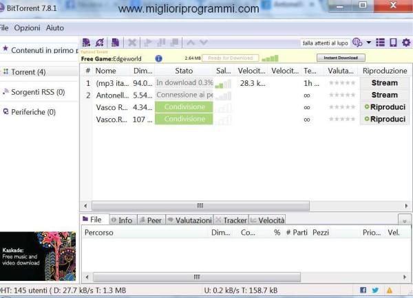 Guida BitTorrent - Guida per come scaricare musica film giochi programmi e file torrent