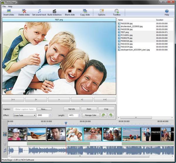Photostage - Download miglior programma per creare video con foto e musica - miglior programma gratis per slideshow