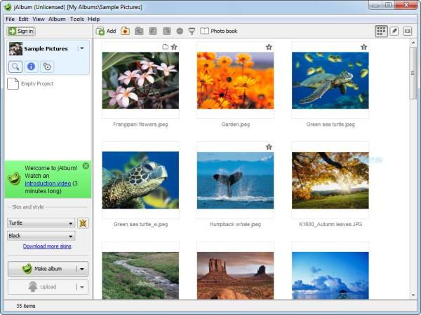 Jalbum - miglior programma per creare album fotografici - come fare album foto da pubblicare online