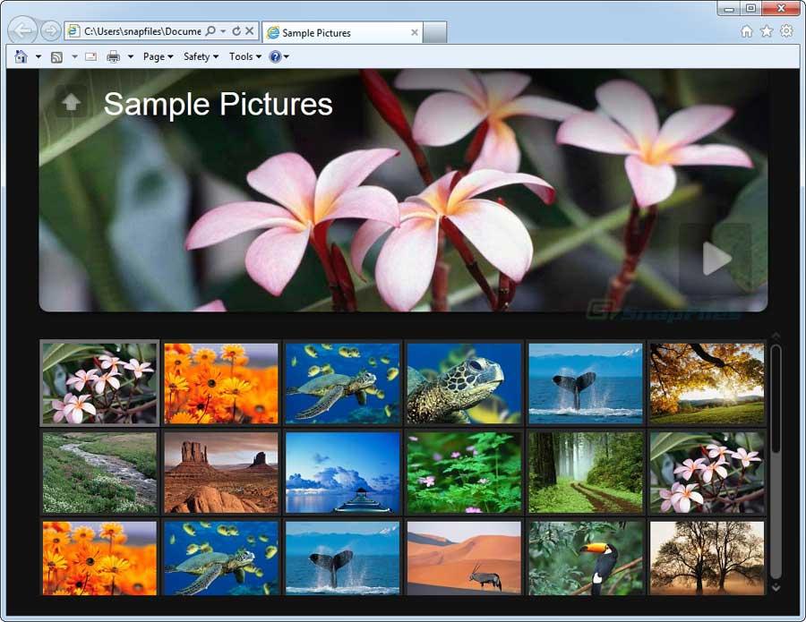 Jalbum - programma gratis per creare gallerie fotografiche da pubblicare online