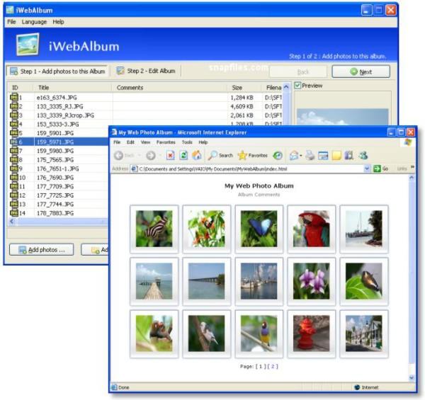 iwebalbum - download miglior programma gratis per creare album fotografici