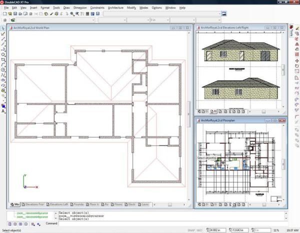 DoubleCAD XT - Software free CAD - migliore alternativa gratis AutoCAD