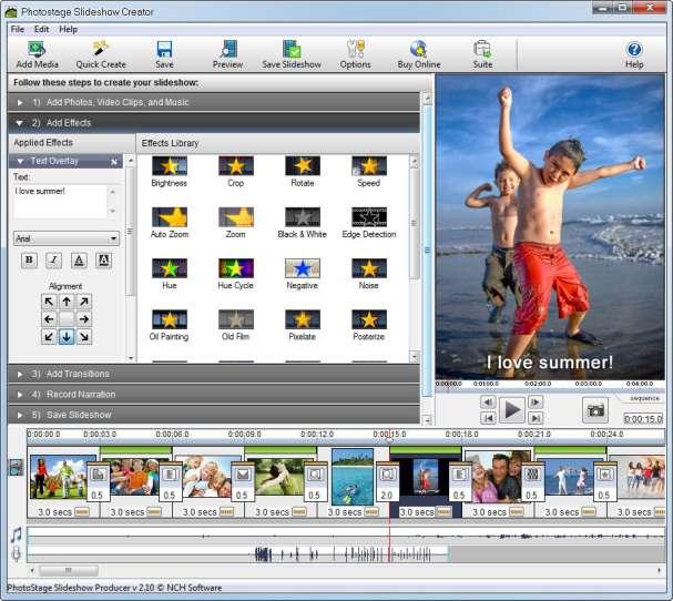 Guida PhotoStage - Guida passo passo per creare video con foto musica voce scritte effetti speciali e transizioni