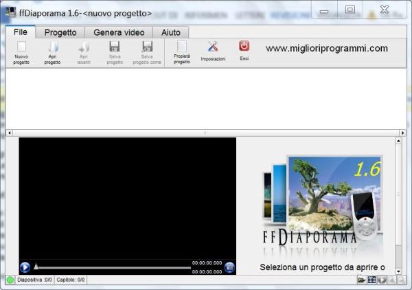 Guida ffdiaporama - Come creare video con foto e musica gratis con ffdiaporama