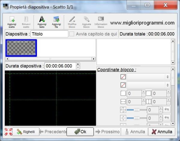 Guida ffdiaporama - Tutorial per fare video con foto immagini e musica sottofondo