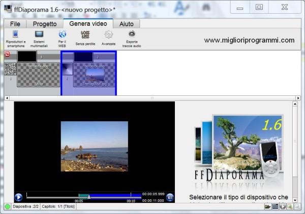 Guida ffdiaporama - Come usare ffDiaporama per fare video con foto e musica