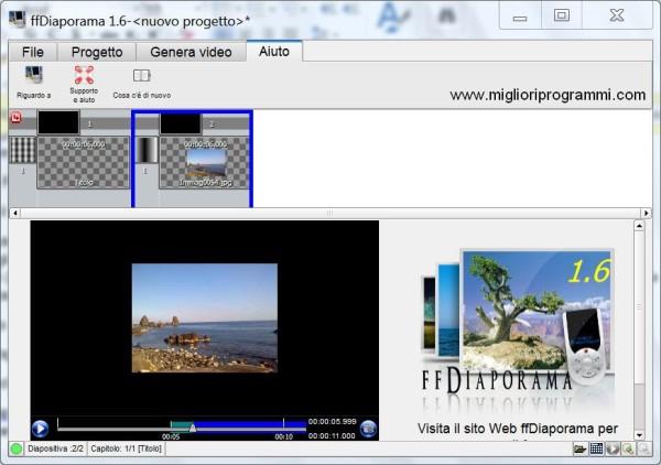 Guida ffdiaporama - Come creare video galleria di foto con musica sottofondo