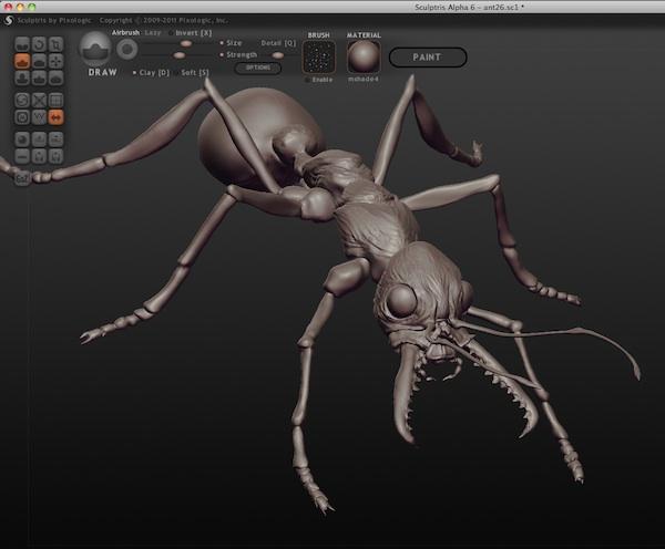 sculptris - download scaricare gratis programma di grafica 3D - programma per la modellazione 3D - programma per fare sculture 3D