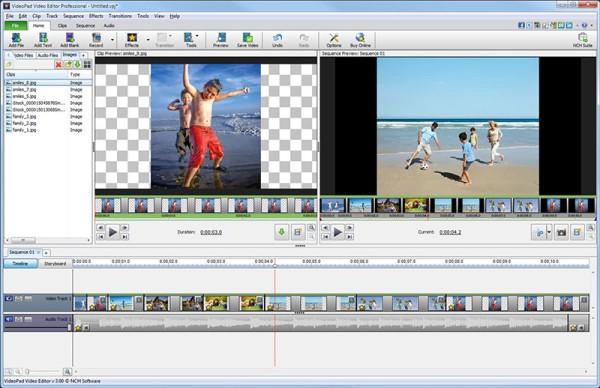 NCH VideoPad - programma per montare video gratis - miglior programma per unire video free